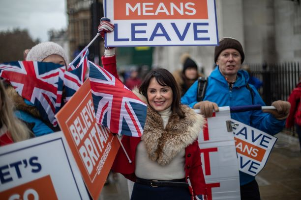 Leave means leave protester
