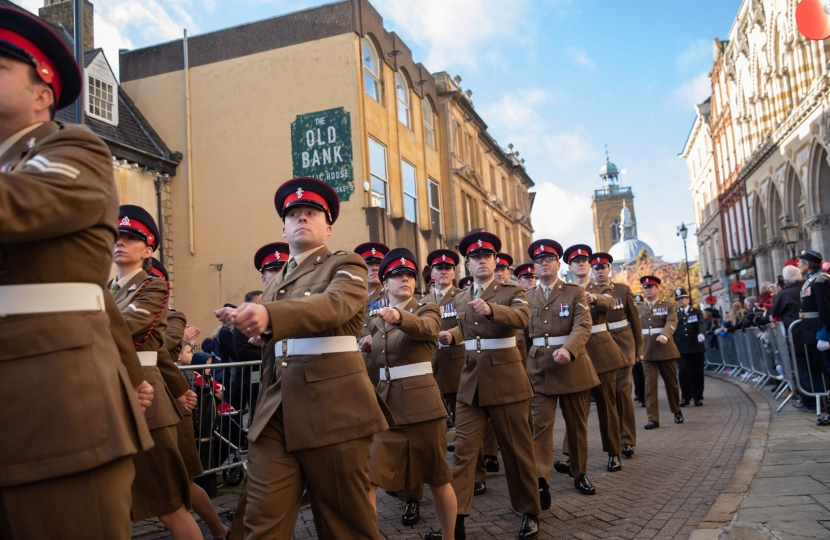 103 battalion REME marching in Northampton