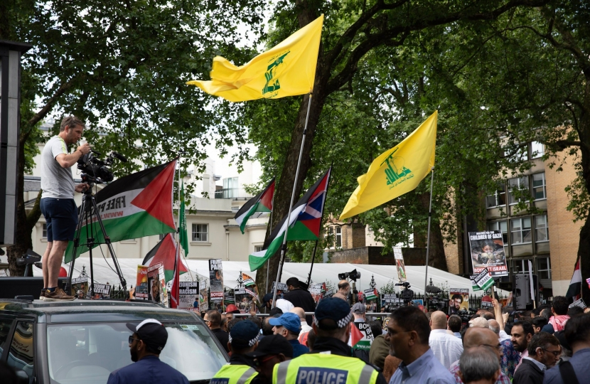 Hezbollah flags in London