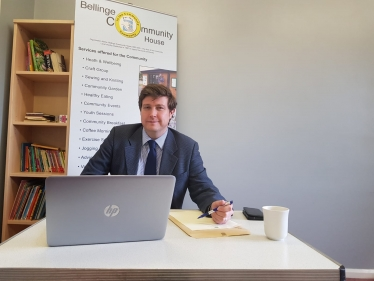 Andrew at a Constituency Surgery